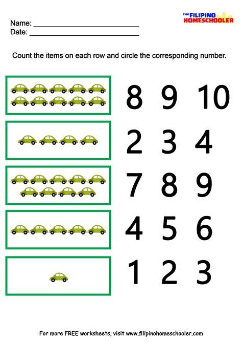 worksheets numbers 1 10 save free printable math