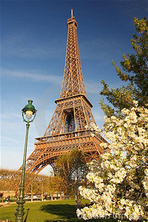 eiffel tower  spring paris france royalty  stock