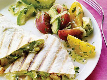 Garden Quesadilla by Surf And Garden Quesadillas With Avocado Salad Recipe