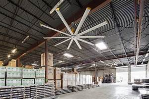 fan technology protects metal from corrosion With big fans for warehouse