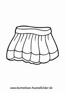 Ausmalbilder Minirock Kleidung Zum Ausmalen