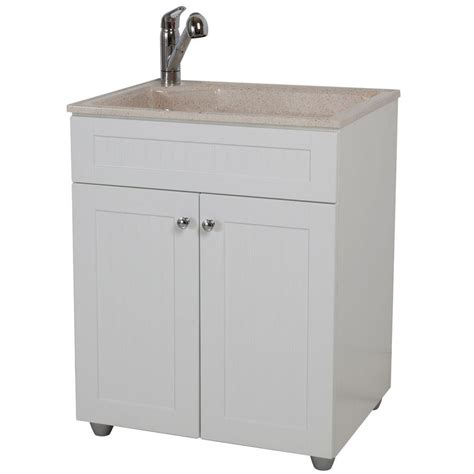 Utility Sink In Cabinet by Glacier Bay All In One 27 In W X 21 8 In D Colorpoint