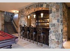 Rustic basement bar pictures home bar transitional with