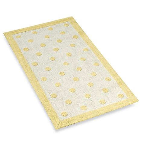 yellow bathroom rugs light yellow polka dots 32 quot x 56 quot accent rug bed bath 1207