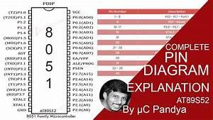 8051 Pin Diagram Explanation Tutorial At89s52