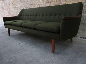 Circa midcentury 39danish modern39 teak sofa for Danish modern sofas