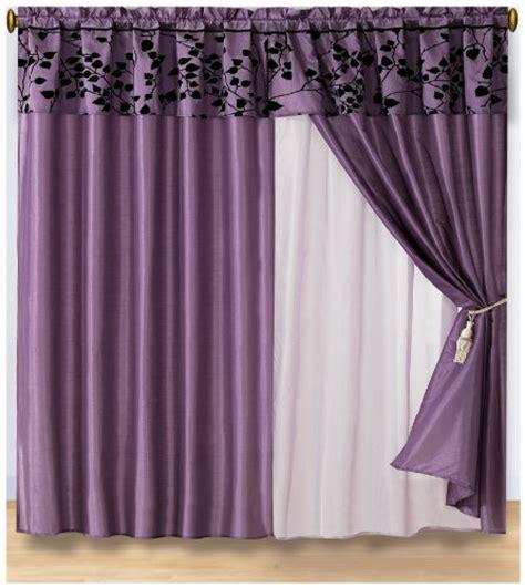 discount 4 pieces purple with black velvet floral flocking