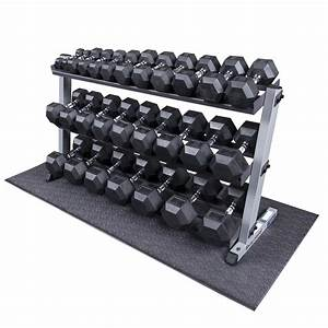 Heavy Duty Rubber Coated Dumbbell Set With Rack 5-70 Lbs Pairs
