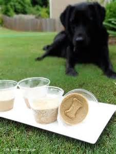 Frozen Banana Peanut Butter Dog Treats