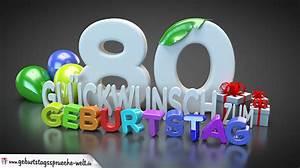 Besinnliches Zum 80 Geburtstag : edle geburtstagskarte mit bunten 3d buchstaben zum 80 geburtstag geburtstagsspr che welt ~ Frokenaadalensverden.com Haus und Dekorationen