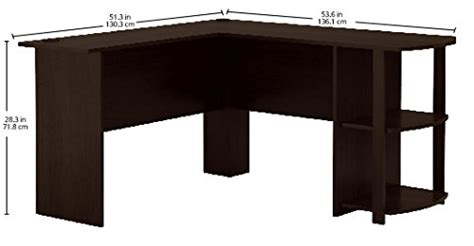 Ameriwood L Shaped Desk Assembly by Ameriwood Home Dakota L Shaped Desk With Bookshelves
