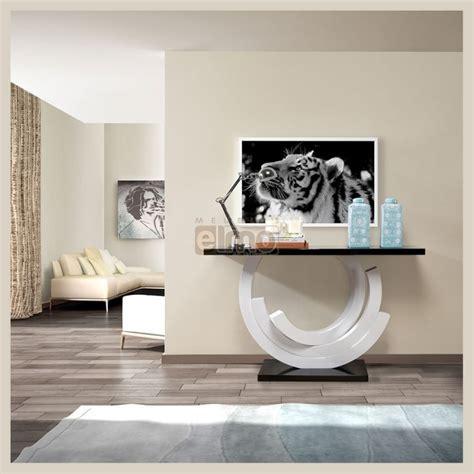 canape cuir rapido console de salon design moderne laque bicolore