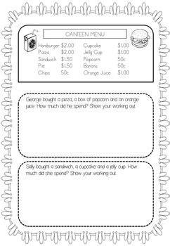 australian money worksheets year 1 2 maths money money