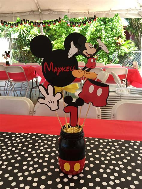 Mickey Mouse Decorations by Mickey Mouse Birthday Ideas Photo 8 Of 14 Catch