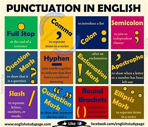 Punctuation in English – English Study Page