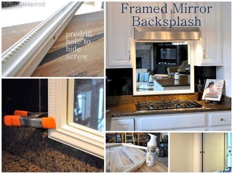 Framed Mirror Backsplash   Cleverly Inspired
