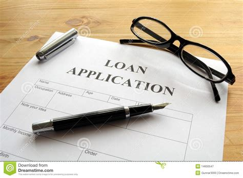 Loan Application Royalty Free Stock Photography
