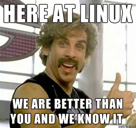 Linux Memes - tech tuesday mac users are less snobby then linux users x1 radio