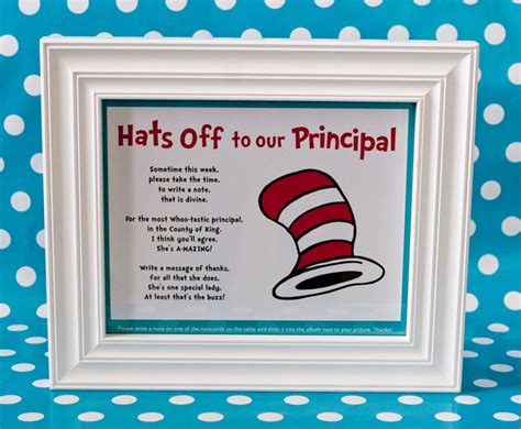 hats    principal album dr seuss themed teacher