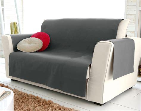 jeté de canapé gris perle protège fauteuil et canapé universels becquet