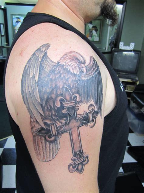 George Cross Tattoos eagle cross tattoo  george carter  green man tattoo 3240 x 4320 · jpeg