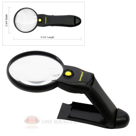 table top magnifying glass 4x handheld table top magnifier illuminated lighted