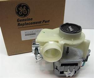 Wd26x10051 Ge Hotpoint Dishwasher Motor Pump Mechanism Ap4980659 Ps3486941