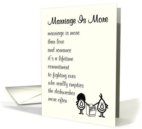marriage    funny wedding congratulations poem card food  thought wedding humor