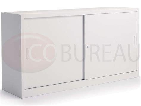 armoire bureau metallique armoire métallique basse à portes coulissantes