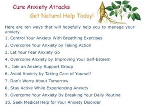 relaxation techniques  panic attacks natural remedies