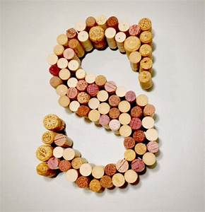 20 quirky ways to use wine corks brit co With letters made out of wine corks