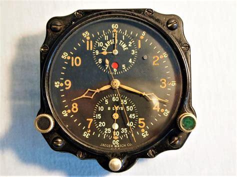 Jaeger Lecoultre Chronoflite Aircraft Clock 1940s Ww2
