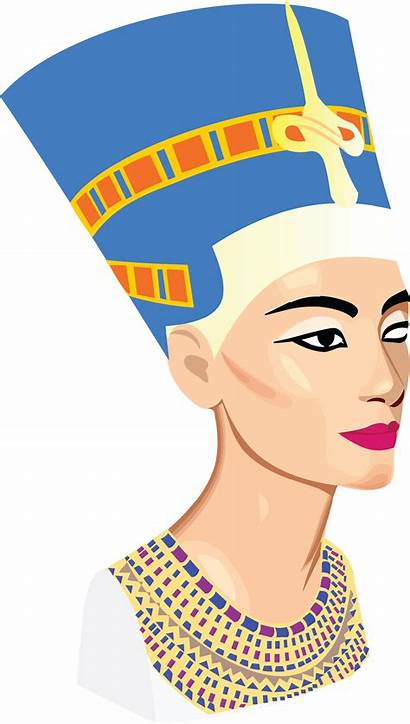 Nefertiti Ancient Egypt Clip Clipart Svg Bust