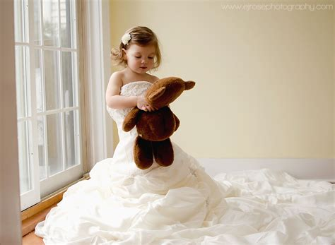 Toddler Girl In Mom's Wedding Dress. Www.facebook.com