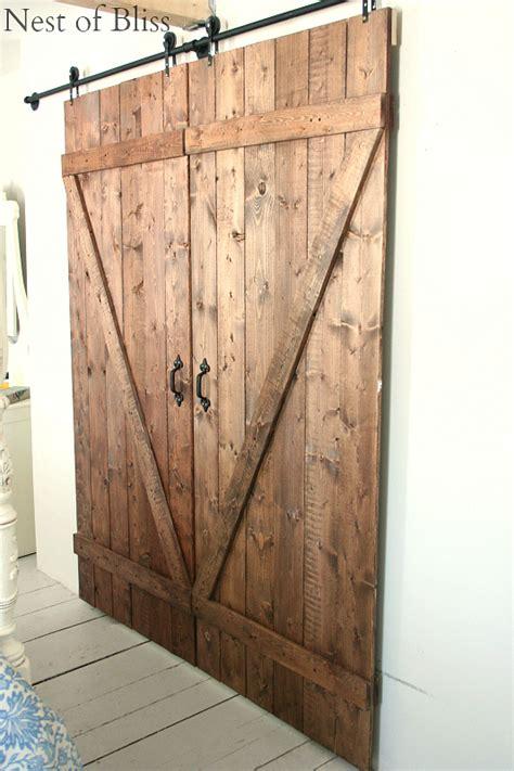 how to make a barn door diy sliding doors nest of bliss