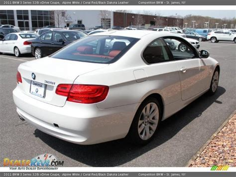 2011 Bmw 328i Coupe by 2011 Bmw 3 Series 328i Xdrive Coupe Alpine White Coral