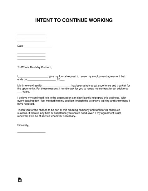 Resignation Letter For Not Renewing Employment Contract - Sample Resignation Letter