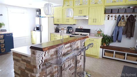 kitchen cart with butcher block custom diy rolling kitchen island daydream