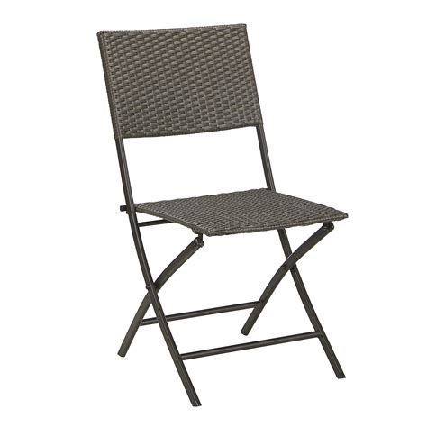 smith resin wicker folding chair arm less