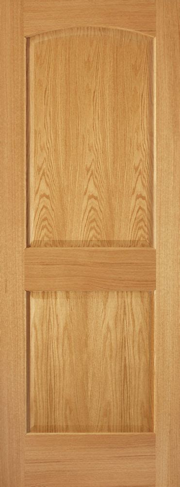 2 Panel Arch Top Raised Panel Red Oak Stain Grade Solid