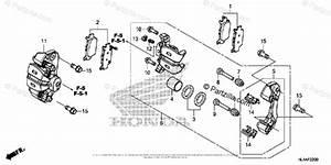 Honda Side By Side 2017 Oem Parts Diagram For Rear Brake