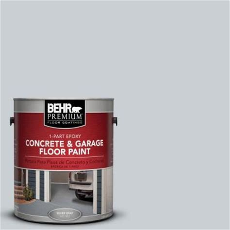 garage floor paint home depot behr premium 1 gal pfc 61 foggy morn 1 part epoxy concrete and garage floor paint 90001 the