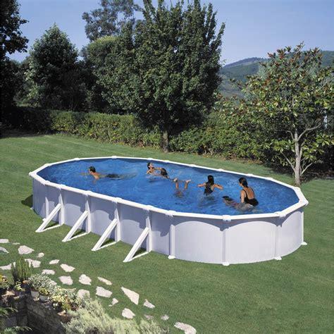 piscine hors sol acier san clara l 6 4 x l 4 05 x h 1 32 m leroy merlin