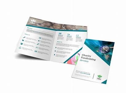 Brochure Fundraising Charity Template Fold Bi Templates