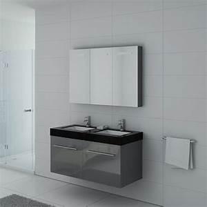 Meuble Salle De Bain Asymétrique : meuble double vasque ref dis1200gt ~ Nature-et-papiers.com Idées de Décoration