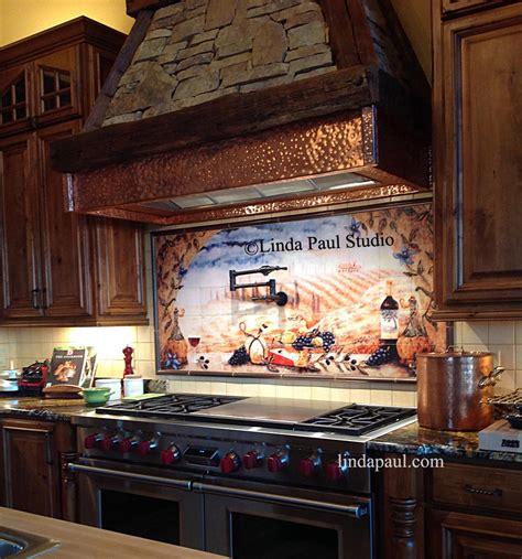 metal murals for kitchen backsplash kitchen backsplash tile murals by paul studio by 9152