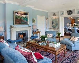 Blue, Living, Room, Ideas