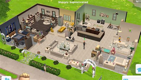 sims mobile share  house blueprints page