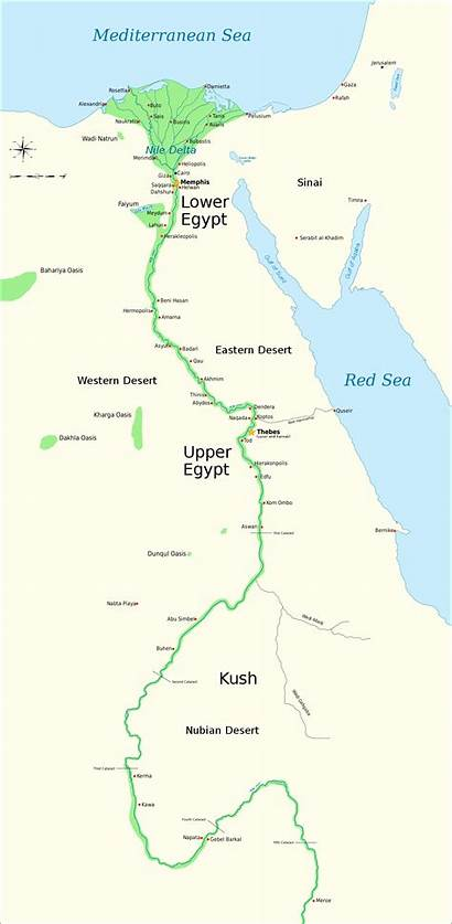 Egypt Upper Lower Ancient Map