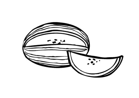 Coloring page watermelon img 9557 Images